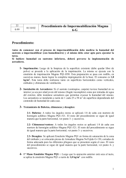 Ficha técnica Impermeabilización 6-G
