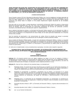 Acuerdo por el que se establecen las bases autorización o