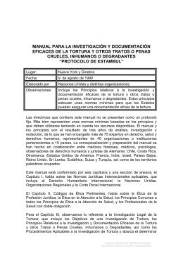 Manual para la Investigación y Documentación Eficaces de la