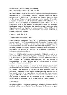 PRESIDENTE Y SECRETARIOS DE LA MESA