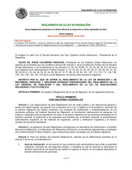Reglamento de la Ley de Migración