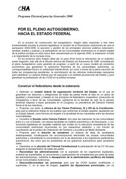 Programa electoral elecciones 2000
