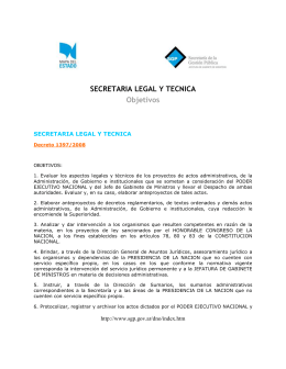 SECRETARIA LEGAL Y TECNICA Objetivos
