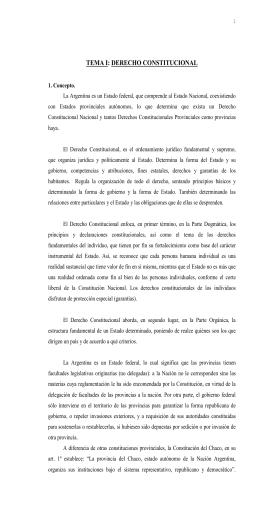 tema i - Poder Judicial de la Provincia del Chaco