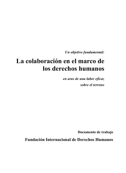 Un objetivo fundamental: - International Human Rights Network