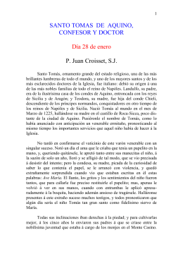 SANTO TOMAS DE AQUINO,