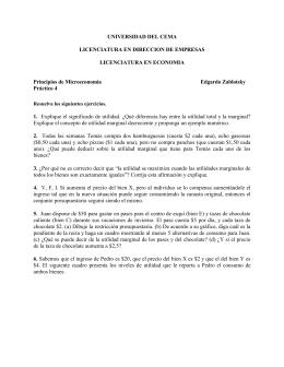 UNIVERSIDAD DEL CEMA LICENCIATURA EN DIRECCION DE EMPRESAS LICENCIATURA EN ECONOMIA