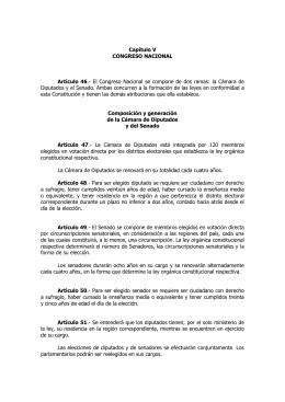 CONGRESO NACIONAL - Sociedad de Derecho Parlamentario