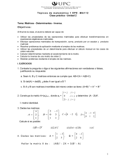 Clase práctica de Matrices-Determinantes
