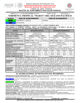 "Tormenta Tropical ""MARTY"" 