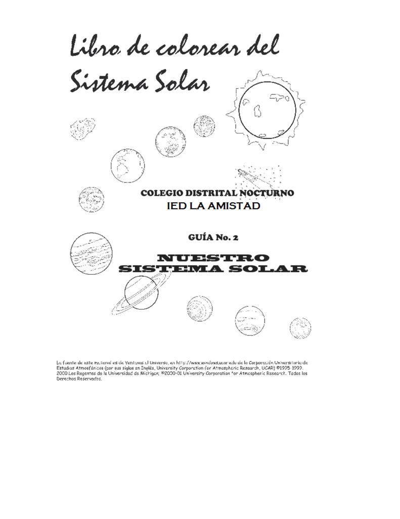 Guía 2: Nuestro Sistema Solar