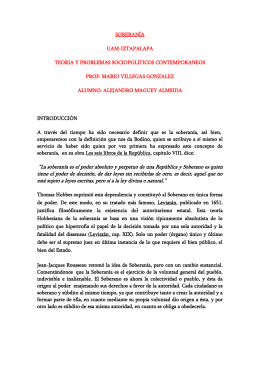 SOBERANÍA - Paginas Prodigy