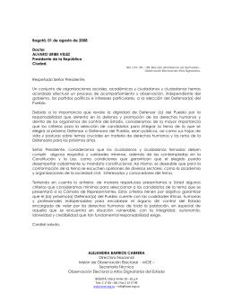 Boletín No 1 sobre Estado Social Democrático y de Derecho