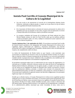 Instala Paul Carrillo el Consejo Municipal de la