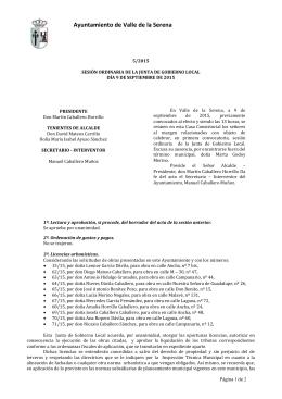 acta sesión ordinaria junta gobierno local 9 septiembre 2015