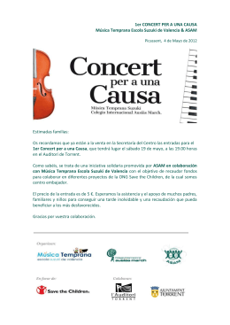 Concert per a una Causa - Colegio Internacional Ausias March
