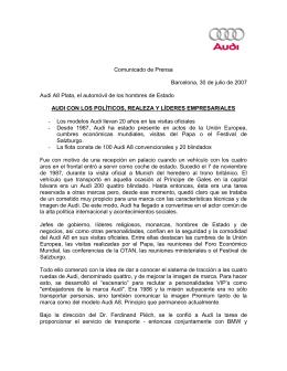 Audi con los políticos, realeza y líderes empresariales