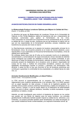 UNIVERSIDAD CENTRAL DEL ECUADOR MICROBIOLOGÍA INDUSTRIAL
