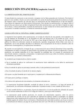 DIRECCIÓN FINANCIERA(Ampliación tema 10)