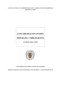 contabilidad financiera - Universidad Complutense de Madrid