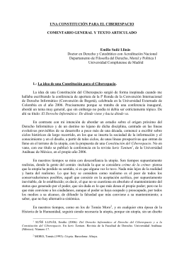 UNA CONSTITUCIÓN PARA EL CIBERESPACIO