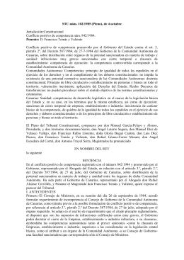 STC 102/1985 Potestad sancionadora en materia de trabajo y sanidad