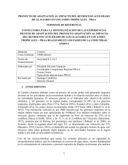PROYECTO DE ADAPTACION AL IMPACTO DEL RETROCESO