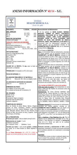 HEALTH MEDICAL S A Noviembre 2014