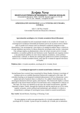 Scripta Nova, vivienda secundaria - Bienvenidos a la Facultad de