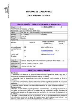 prácticas jurídicas - Universidad de Extremadura