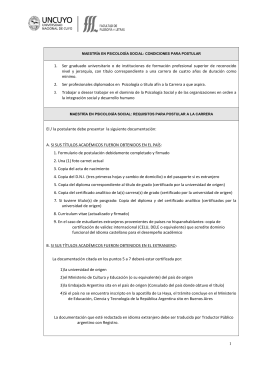 MAESTRÍA EN ORDENAMIENTO TERRITORIAL: REQUISITOS