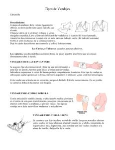 procedimientos de enfermería en urgencias traumatológicas  vendajes f2fd17636e17