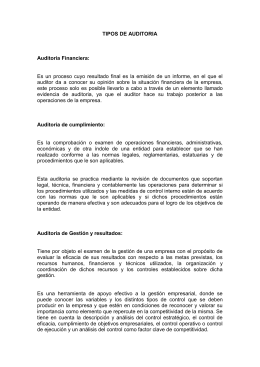 TIPOS DE AUDITORIA - revisoriaberriosandra