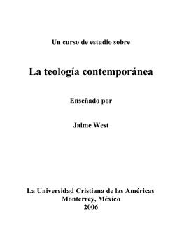 teología-contemporánea - Lic. Jonathan Latham