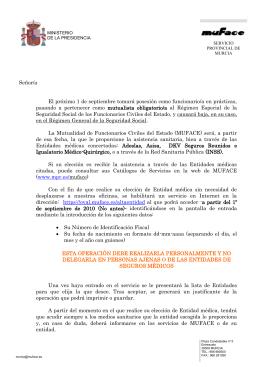 Instrucciones sobre el procedimiento de afiliación de funcionarios