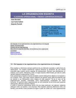 La organización egoísta - Facultad de Periodismo y Comunicación