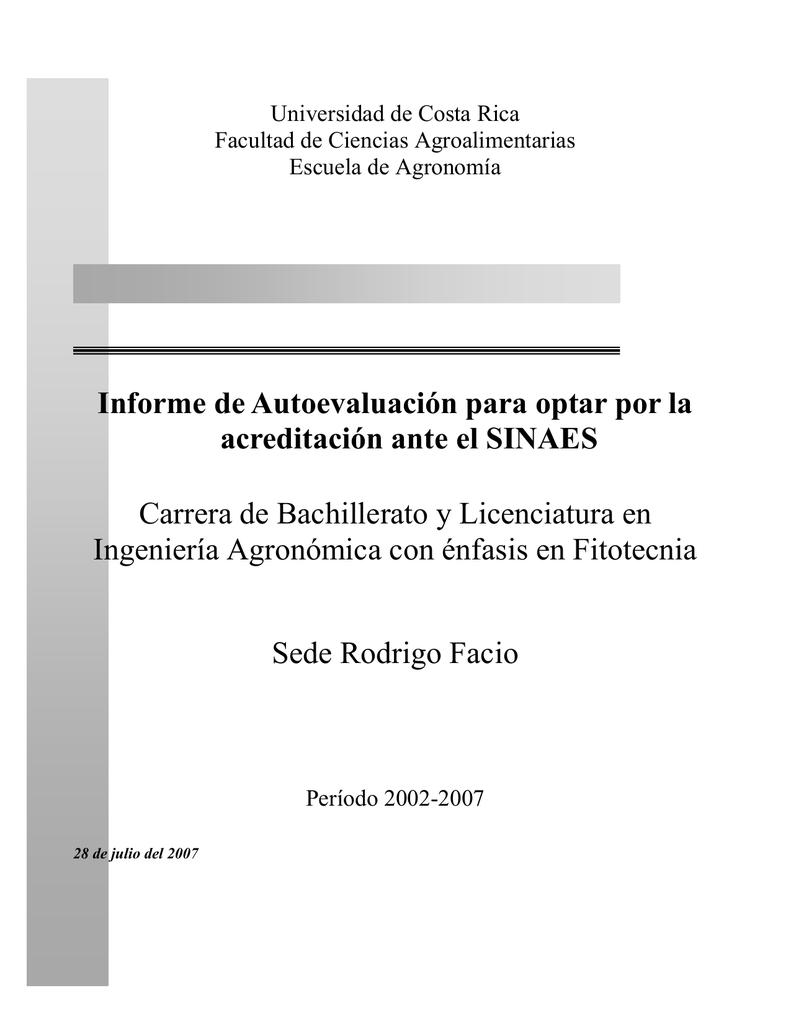 Planificación Estratégica de la Escuela de Agronomía, Facultad