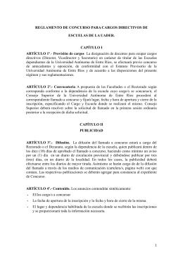 reglamento de concurso para cargos directivos de