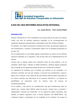 Ejes de una Reforma Educativa Integral