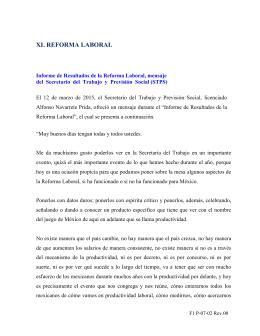 Reforma Laboral - Comisión Nacional de los Salarios Mínimos