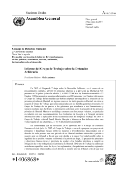 Report of the Working Group on Arbitrary Detention in Spanish
