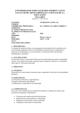 UNIVERSIDAD DE ESPECIALIDADES ESPIRITU SANTO EDUCACION SYLLABUS