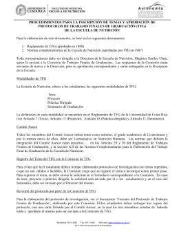 Procedimientos para la inscripción de tema y aprobación de