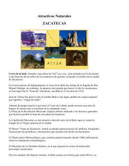 Atractivos Naturales ZACATECAS Cerro de la bufa: Situado a una