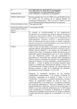 0009-2007-PI-0010, Caso ONGs