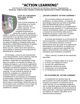 """ACTION LEARNING "": UNA FORMA NO"