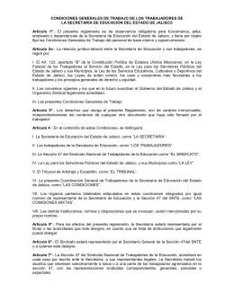 Reglamento de las Condiciones Generales del Trabajo de los