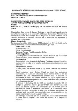 RADICACIÓN NÚMERO 11001-03-27-000-2005-00054