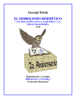 El Simbolismo Hermético - Future Website of libreriasmasonica