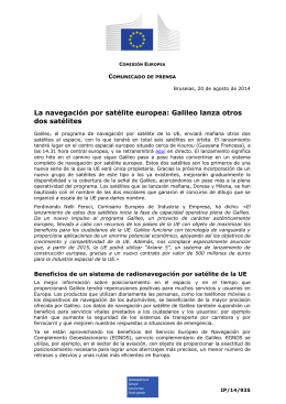 La navegación por satélite europea: Galileo lanza otros dos satélites C